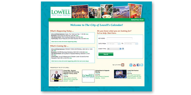 City of Lowell Calendar